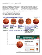Google Shopping eBook screenshot