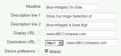 Mobile Specific Ad