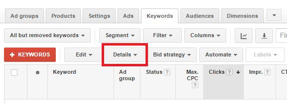 Google Shopping Keyword Bidding 3