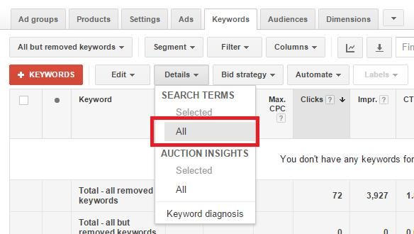 Google Shopping Keyword Bidding 4