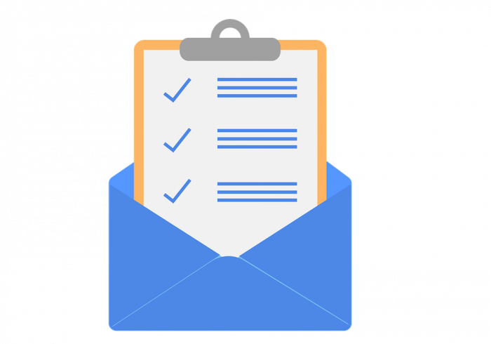 Marketing checklist in an email