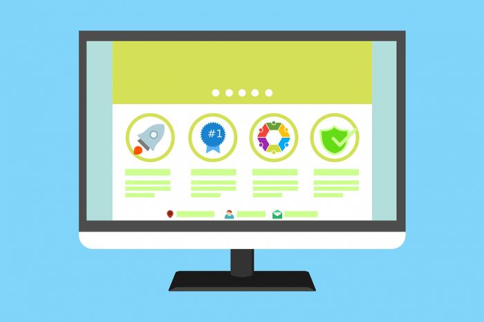 Website desktop with secure badges